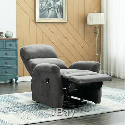 20.5 Seat Width Electric Power Lift Recliner Chair Elderly Padded Sofa with RC