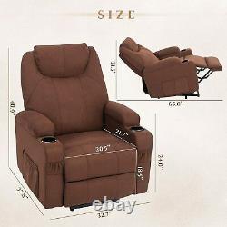 350LB heavy duty Electric Power Lift Recliner Sofa Chair Massage Heat Cup Holder