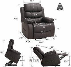 3 Positions Power Lift Recliner Chair 8 Points Massage Lumbar Heated Elderly