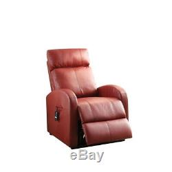 ACME Furniture Ricardo Power Lift Recliner in Red