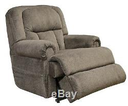 Ash Gray Catnapper Burns Dual Motor Power Lay Flat Lift Chair Recliner 400lb