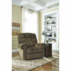 Ashley Furniture Ernestine Power Lift Recliner in Truffle