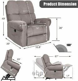 Auto Electric Heavy Duty Power Lift Recliner Chair Heat Vibration Massage Sofa