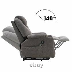 Auto Electric Leather Power Lift Massage Recliner Chair Sofa 2USB withRemote