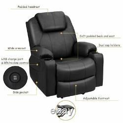 Auto Electric Power Lift Massage Chair Leather Recliner Heat Vibration Oversize