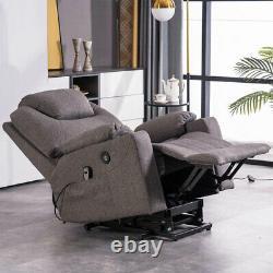 Auto Electric Power Lift Massage Recline Chair Heat Vibration Control USB Remote