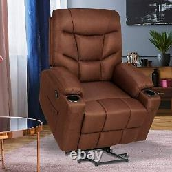 Auto Electric Power Lift Massage Recliner Chair Heat Vibration Sofa withRemote USB