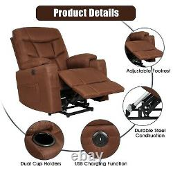 Auto Electric Power Lift Massage Recliner Chair Heat Vibration with Remote Control
