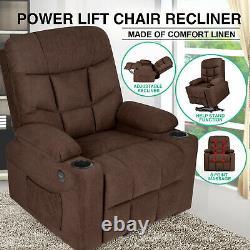 Auto Electric Power Lift Massage Recliner Chair Vibration Heat USB Control Wheel