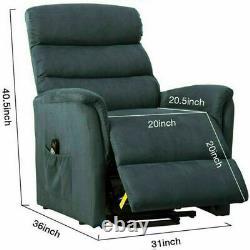 Auto Electric Power Lift Massage Recliner Chair sofa Heat Vibration USB Control