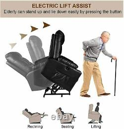 Auto Electric Power Lift Massage Recliner Chair with Heat Remote Control Elderly