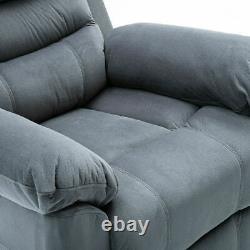 Auto Electric Power Lift Recliner Chair Velvet Fabric Padded Arm Heavy Duty Sofa