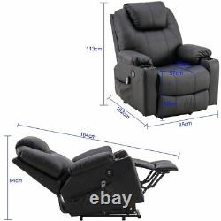 Automatic Power Lift Massage Chair Electric Recliner Heat USB Remote Cup holders