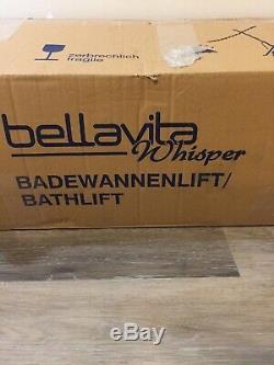 BELLAVITA WHISPER DRIVE BATHLIFT POWER BATH LIFT CHAIR MEDICAL Free S/h