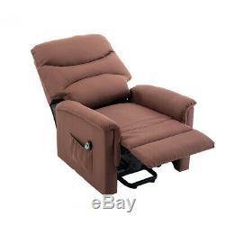 BONZY Lift Chair Microfiber Power Lift Recliner Chocolate