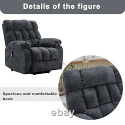 Body Auto Electric Power Lift Massage Recliner Chair Heat Vibration With Remote
