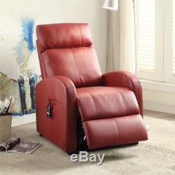 Bowery Hill Power Lift Recliner in Red