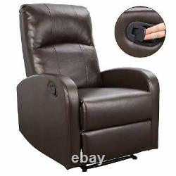 Brown Oversized Leather Auto Electric Power Lift Massage Recliner Chair