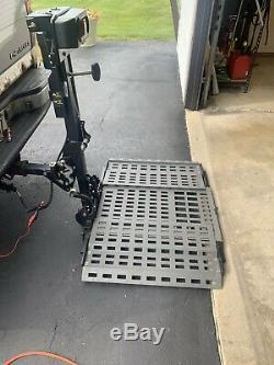 Bruno's ASL-250 exterior platform Wheelchair scooter power chair lift
