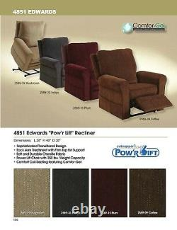 CATNAPPER Edwards Power Lift Chair Pow'r Lift Recliner 4851 Indigo Color