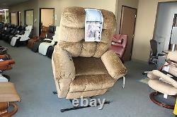 Catnapper Large Scale Omni 4827 Power Lift Chair & Recliner Truffle Brown Fabric