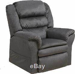 Catnapper Preston Power Lift Recliner with Pillowtop Seat in Smoke