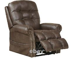 Catnapper Ramsey Power Lift Chair Lay Flat Recliner with Heat & Massage Sable