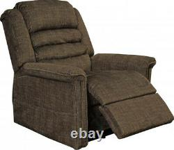 Catnapper Soother 4825 Power Recliner Lift Chair + Heat Massage Chocolate Fabric