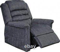 Catnapper Soother 4825 Power Recliner Lift Chair + Heat Massage Smoke Fabric