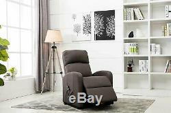 Classic Linen Recliner Modern Power Lift Chair Reclining Living Room Chair, Grey