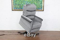 Classic Traditional Furniture Power Lift Recliner Living Room Chair, Grey