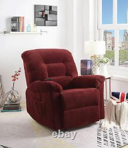 Coaster Upholstered Chenille Power Lift Recliner Brick Red 600400