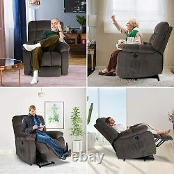 Coffee Electric Power Lift Recliner Chair Massage Heated Vibration Sofa withRemote
