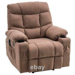 Comfortable Durable Fabric Massage Power Lift Recliner Chair with Cup Holder