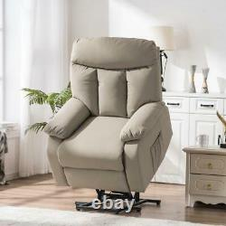 Comfortable New PU Electric Power Lift Massage Chair Recliner Chair withRemote