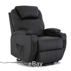 Dakavia Power Lift Real Leather Recliner Armchair Elderly Chair Lounge Seat
