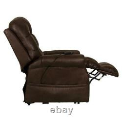 David Power Lift Recliner with Heat and Massage in Chocolate Brown Fabric