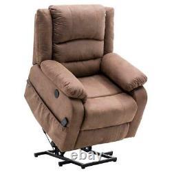 Durable Electric Power Lift Massage Recliner Chair Sofa Furniture Light Brown