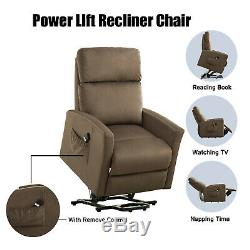 Elderly Electric Power Lift Recliner Chair Living Room Sofa With Remote Control