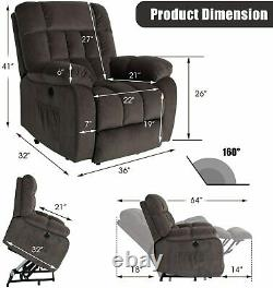 Elderly Electric Power Lift Recliner Chair Massage Remote Heated Vibration Sofa