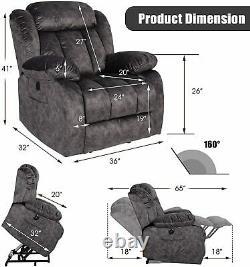 Elderly Electric Power Lift Recliner Chair Massage Sofa Armchair Overstuffed USB