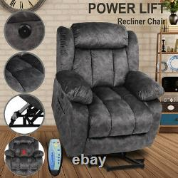 Elderly Electric Power Lift Recliner Chair Vibration Massage Sofa Overstuffed