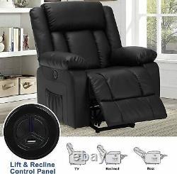 Elderly Power Lift Electric Recliner Chair Heat Vibration Massage Sofa withPillow