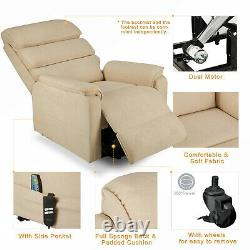 Elderly Power Lift Electric Recliner Chair Heated Vibration Couch Massage Sofa