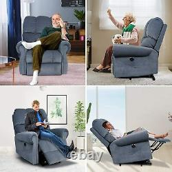 Elderly Power Lift Recliner Chair Heat Vibration Massage Overstuffed Lounge Sofa