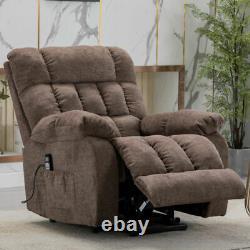 Elderly Power Lift Recliner Chair with Heat & Massage Overstuffed Reclining Sofa