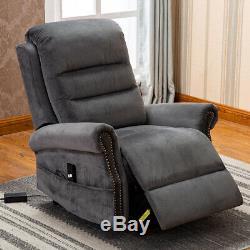 Electic Power Lift Recliner Chair Elderly Armchair Overstuffed Classic Design