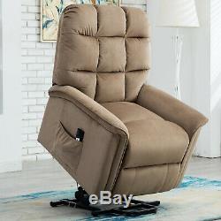 Electirc Power Lift Chair Soft Fabric Arm Chiar Sofa for Elderly Living Room New