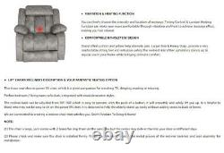 Electric Heavy Duty Power Lift Recliner Chair Heat Vibration Massage Sofa Remote