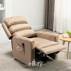 Electric Lift Chair Power Recliner Sofa Velvet Overstuffed Backrest Lounge Seat